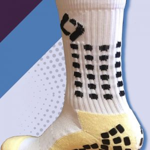 white cushioned sports socks