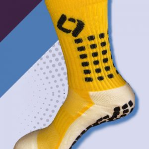yellow cushioned sports socks