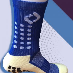 Blue cushioned sports socks