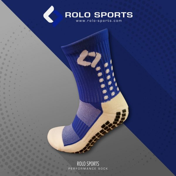 Blue Cushioned Sports Socks by Rolo Sports