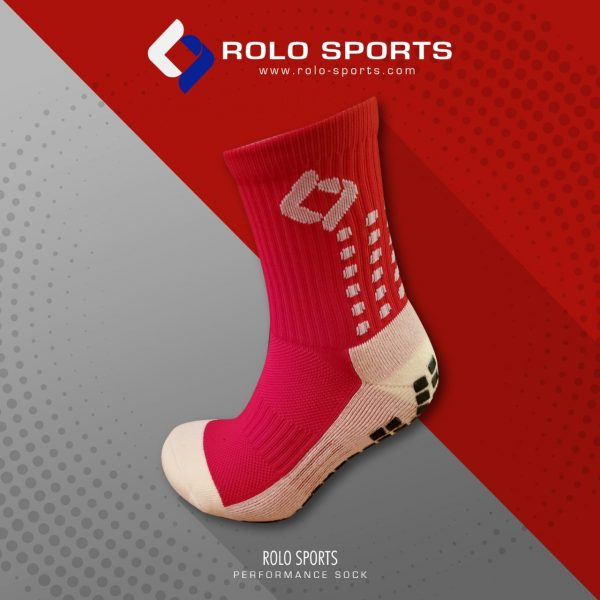 Red Cushioned Sports Socks by Rolo Sports