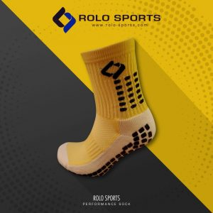 Yellow Cushioned Sports Socks by Rolo Sports