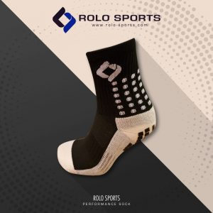 Black Cushioned Sports Socks by Rolo Sports