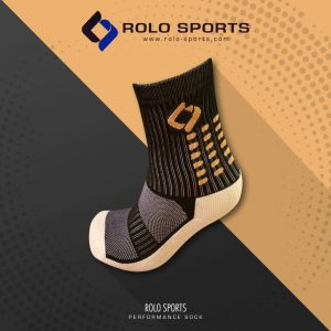Black & Amber Cushioned Sports Socks by Rolo Sports