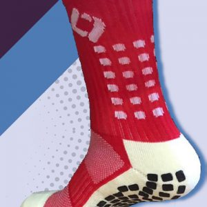 Red cushioned sports socks