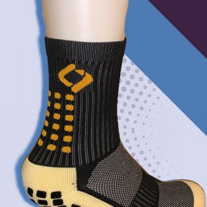 black cushioned sports socks