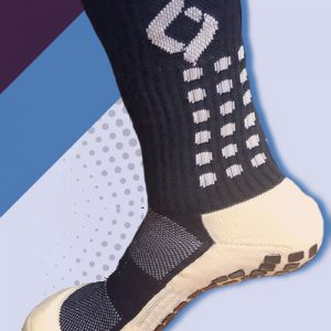 plain black cushioned sports socks