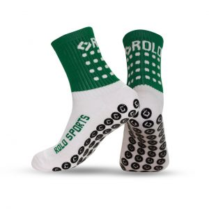Green & White Cushioned Sports Socks