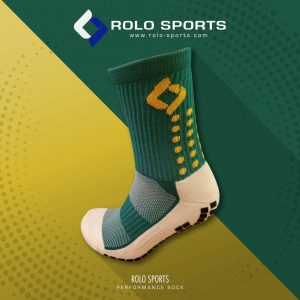 Green & Yellow Cushioned Sports Socks by Rolo Sports