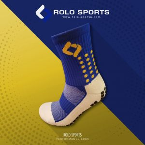 Blue & Yellow Cushioned Sports Socks by Rolo Sports