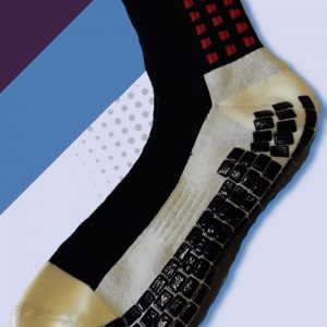 black and Red cushioned sports socks
