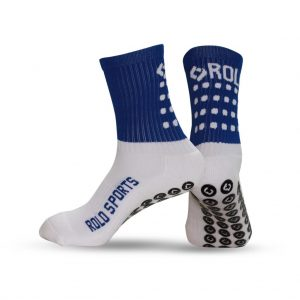 Blue and white Cushioned socks