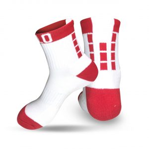 Low Rise Socks Red and White